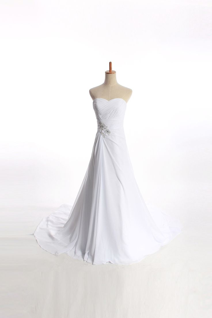 Charming Sleeveless A-line Floor-length wedding dress