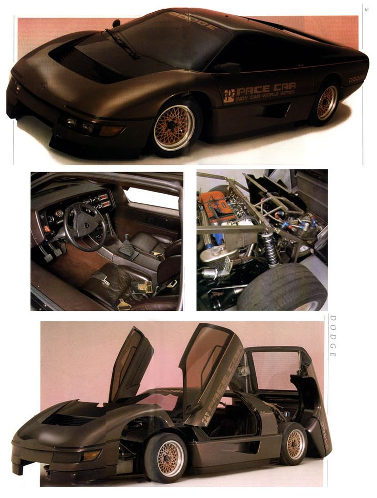 The Dodge Chrysler series PPG pace car turbo interceptor.. code name M4S ..Designed by Robert (Bob) Ackerman.. Thanks for providing accurate information go to: https://www.facebook.com/builda.fastcar