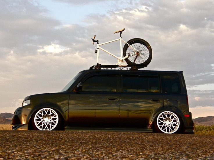 Scion xB. It's growing on me. Like the bike rack and the wheels.