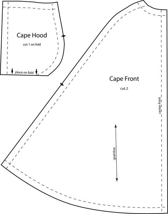 Barbie's cape with hood is dramatic for wearing out to the opera over one of her long evening dresses (which you can make yourself also).   Instructions for saving and printing jpg or pd…