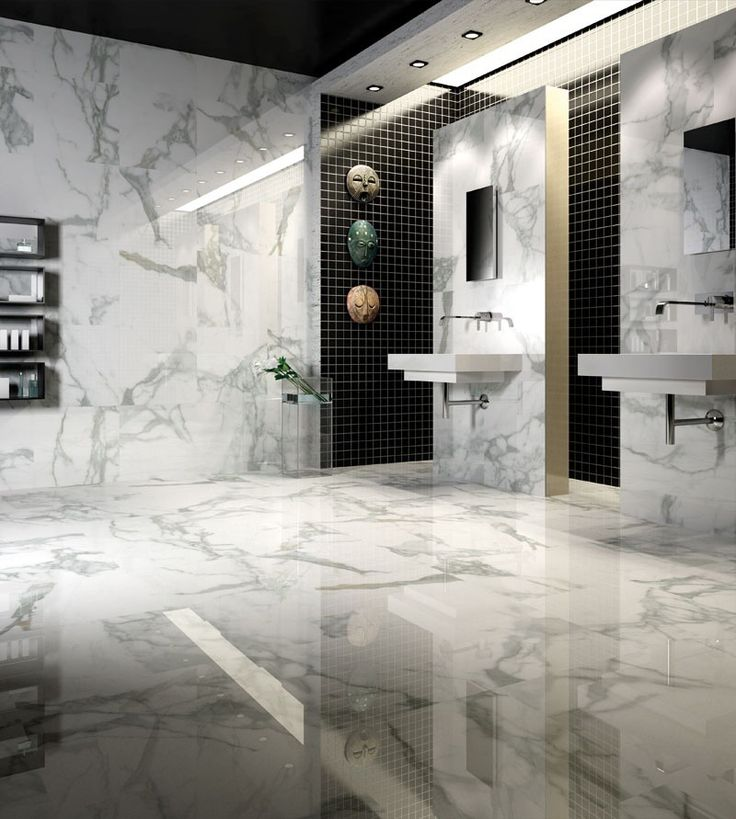 155 best images about ba os on pinterest powder room for Porcelanato para banos