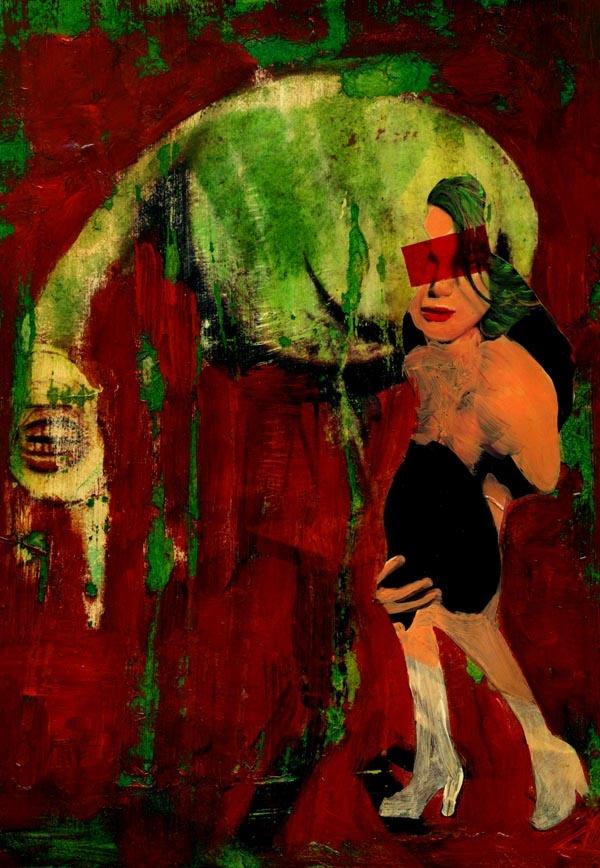 36-ART in PAPER  Pintura Mixta Collage Tamaño 30x21 cm. http://www.crisacqua.com