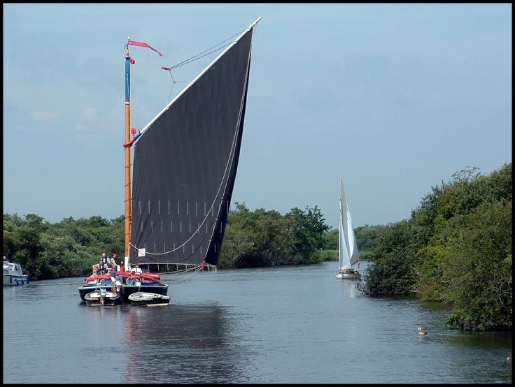 Norfolk Wherry - old fashioned sailing barge.