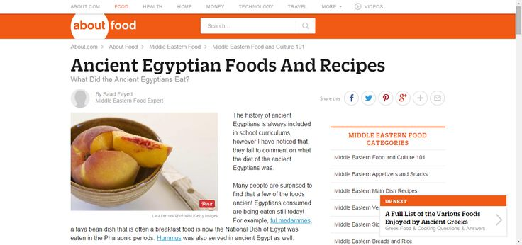 How Do The Ancient Egyptians Make There Food