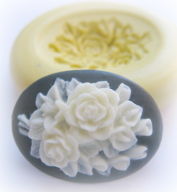 Flower Cameo Flexible Mold Flower Cameo Clay Candy by WhysperFairy