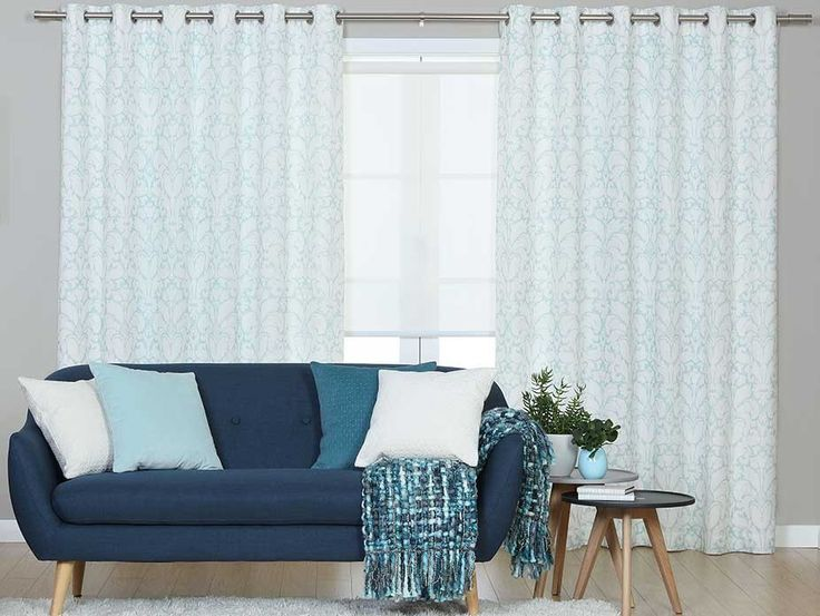 Balfour Blue Eyelet Curtains