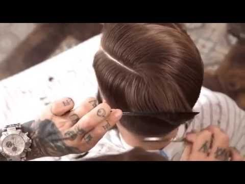Mens Hairstyles 2016 | Side Part Pompadour 2016 - YouTube