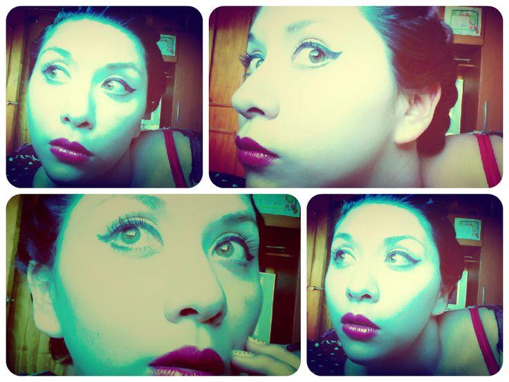 #me, #selfie, #collage, #makeup, #eyes, #lips,