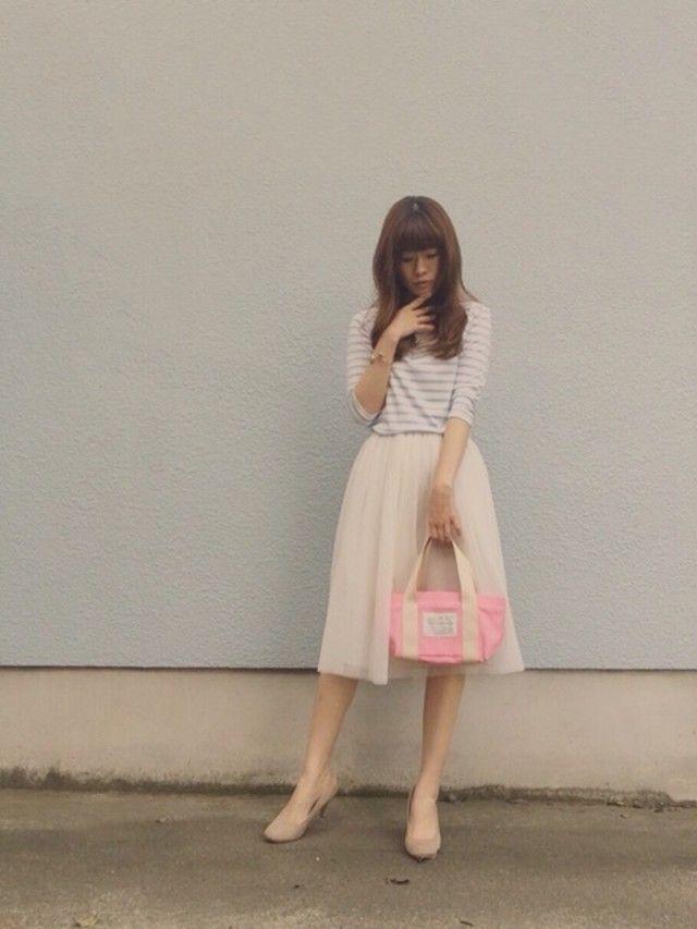 大人可愛い♡ベージュONベージュのふんわり春コーデ! ふんわり系タイプのファッション スタイルのコーデ参考アイデア集♪
