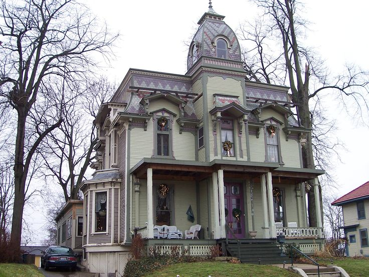 victorian architecture ohio | Another cool house in the old historic district of Springfield, Ohio.