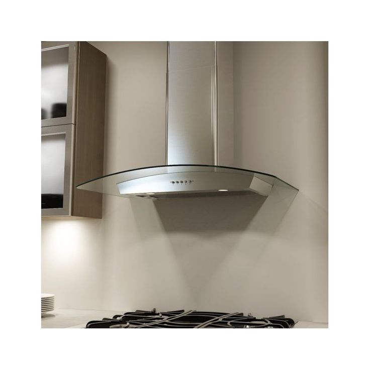 View the Miseno MH00336G 750 CFM 36 Inch Stainless Steel Wall Mounted Range Hood with Dual Halogen Lighting System and Glass Accent at VentingDirect.com.