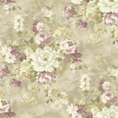 HP0300 Painterly Bouquet Discount wallpaper, Wallpaper