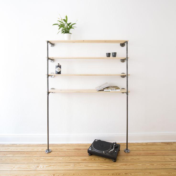 19 melhores imagens de steel pipe shelves stahlrohr regale no pinterest armazenamento casaco. Black Bedroom Furniture Sets. Home Design Ideas