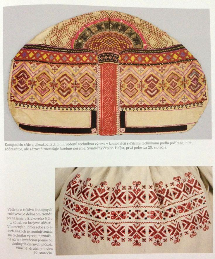 Slovak Folk Embroidery.  top: Helpa (Central)  bottom: Vinicne (West)