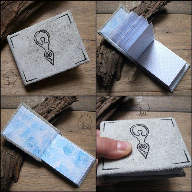 Spiralbook - tiny handmade notebook by Dark-Lioncourt.deviantart.com on @DeviantArt