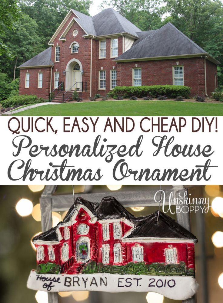 How to make your own Personalized DIY House replica Christmas Ornaments made from polymer clay. Super easy and such a great gift for the person who has it all!