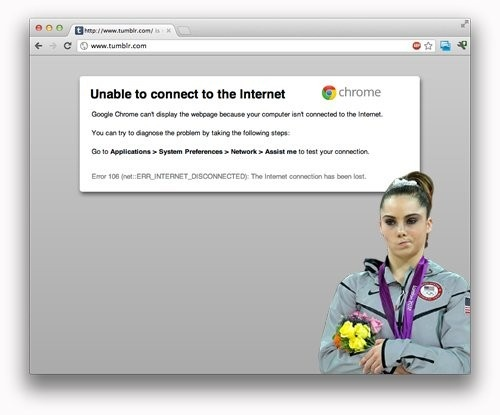 Mckayla not impressed with internet connectivity problems