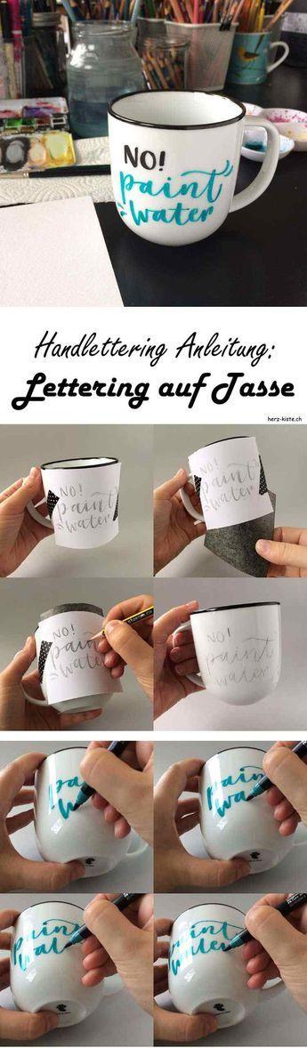In dieser DIY Handlettering Anleitung erfährst du, wie du ganz einfach eine Tasse bemalen und beschriften/belettern kannst.