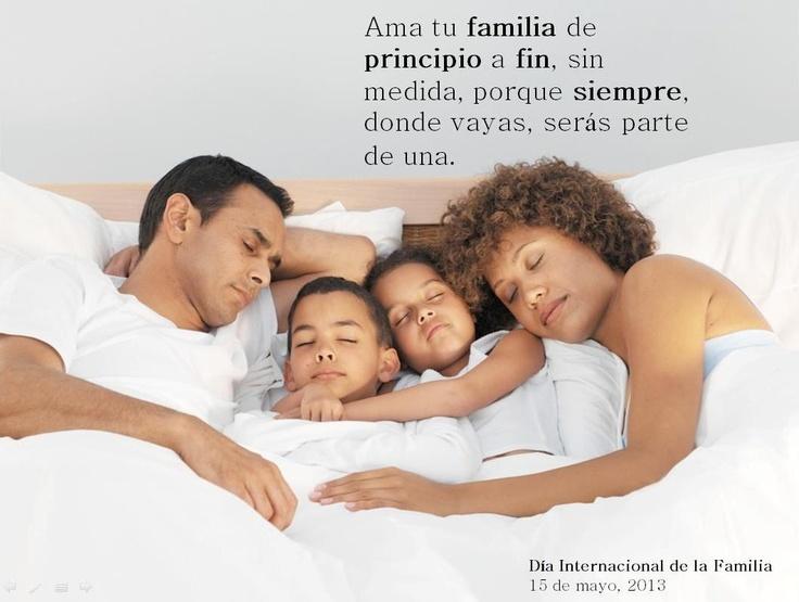 Hoy es el Día Internacional de la Familia, un núcleo donde siempre encontramos seguridad, protección y crecimiento #Familia #Quote