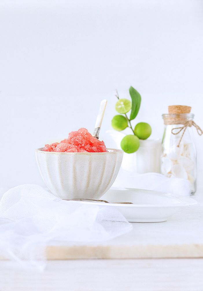 Watermelon granita is a frozen dish that is Snow like texture, light on tummy, easy to make and extremely refreshing that is perfect for Summer or any hot day.