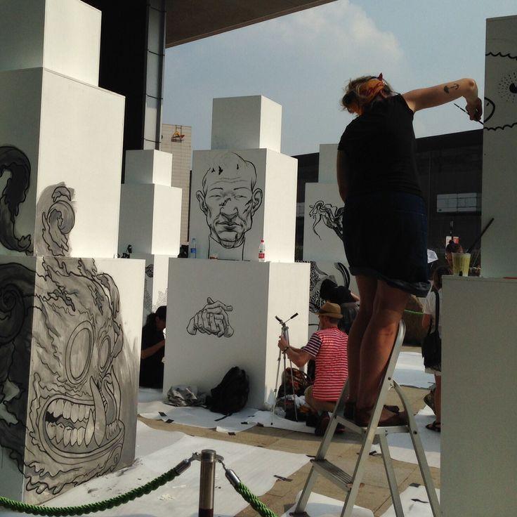 "The Canadaian ""En Masse"" Graffiti exhibition. Shanghai, Oct 2014"
