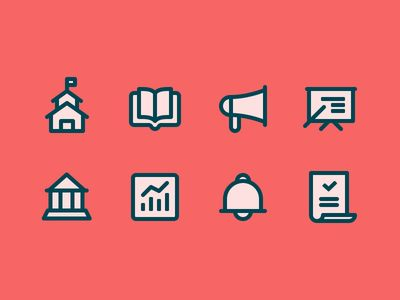 Dribbble - School Iconography by Zach Roszczewski
