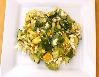 Calabacitas Recipe - A Delicious Squash Recipe. Made July 2015. Used fresh oregano, corn was already cooked. No cheese. Served with avocado. Delicious.