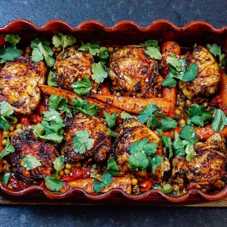 MOROCCAN STYLE CHICKEN CHICKPEA TRAYBAKE