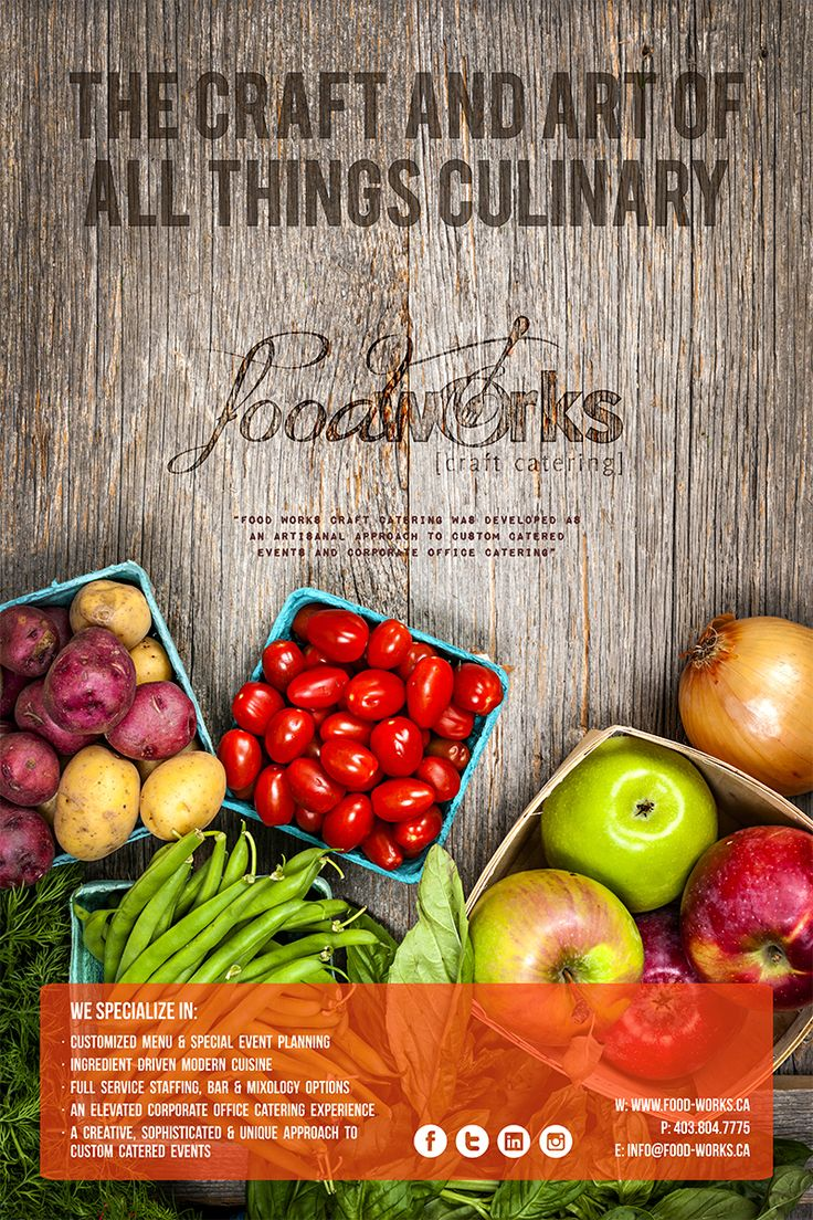 Poster for Food Works Craft Catering in calgary