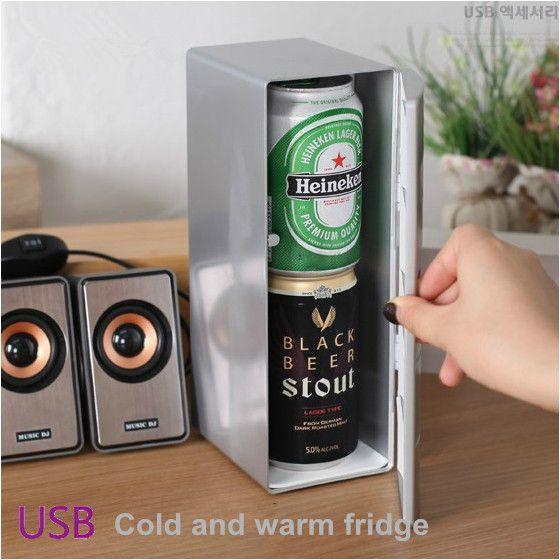 USB mini kühlschränke kalt-und kühlung heizung 5 V kleine kühlschrank schrank kosmetik tragbare kühlschrank schrank