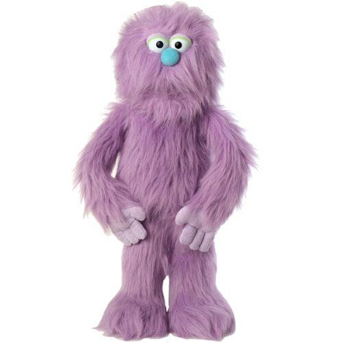''Monster'', 30In Monster Puppet, Purple -Affordable Gift for your Little One! Item #DSPU-SP2005B by Silly Puppets. $34.95. Brand new, ships directly from Silly Puppets Inc.. ''Monster'' is 30 inches tall.. See item description below for more information.. This superb puppet, ''Monster'' by Silly Puppets, will help you r little one engage in a thrilling pretend-play (or even create a puppet show to invite friends to!) with this purpleMonster with long purple fur, cyan nose,...