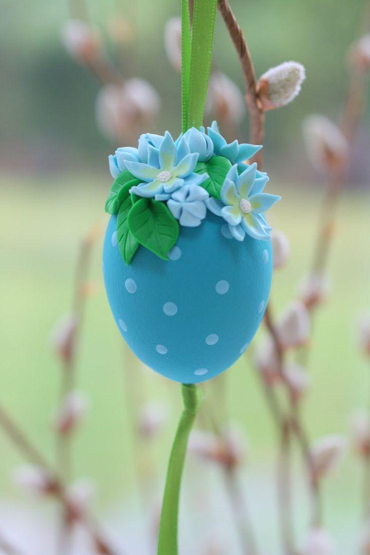 Easter Eggs, Easter Tree Ornament, Egg Decorations, Easter Decorations, Easter Gift,  Flower Ornament, Flower Decoration, Cherry Blossoms by EggOnTop on Etsy