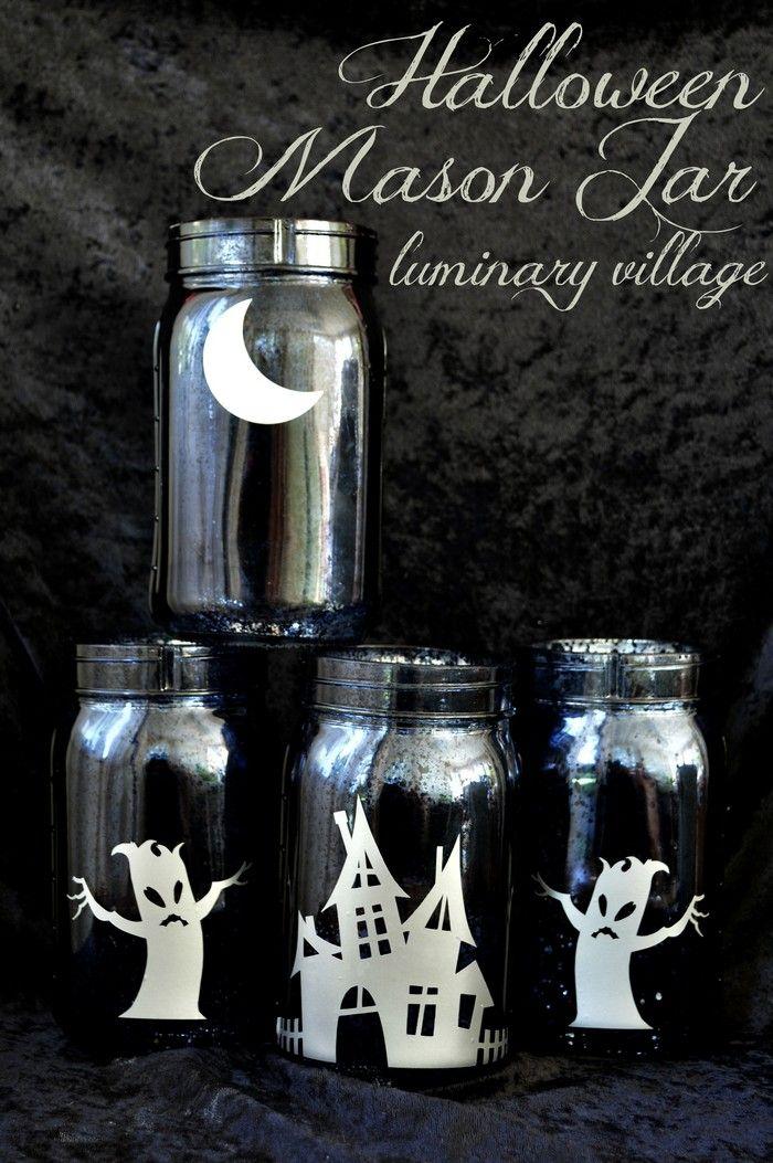 Halloween Mason Jar Luminary Village