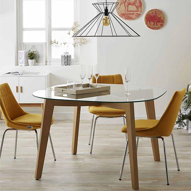 best 25 table ronde en verre ideas on pinterest table. Black Bedroom Furniture Sets. Home Design Ideas