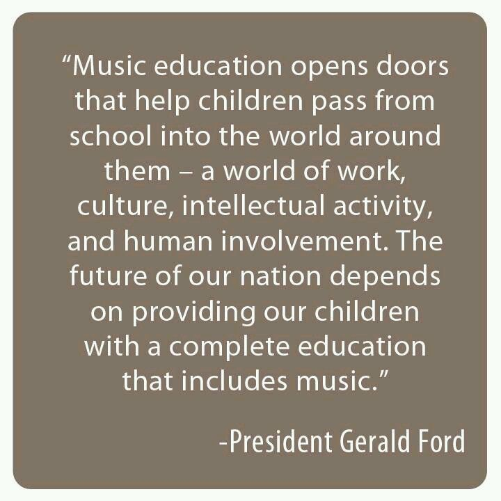 Music education opens doors by Gerald Ford                                                                                                                                                      More