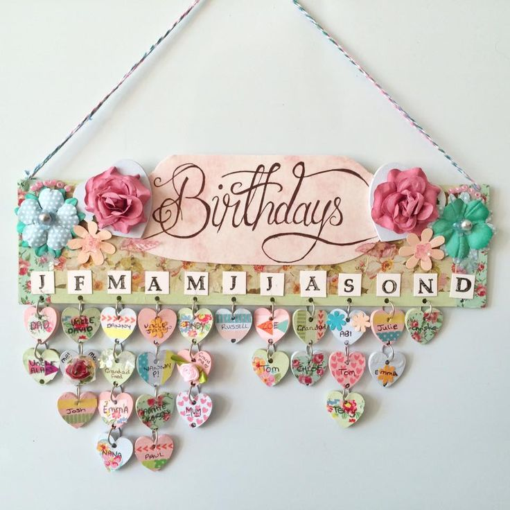 Birthday Calendar Wall Hanging