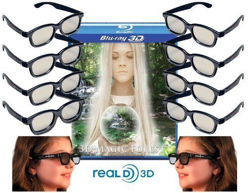 Family Adult and Kids Genuine Sealed RealD Circular Polarized 3D Glasses for RealD Theaters and Passive 3D TV's from Vizio, Toshiba, LG, Philips and JVC - (10 Pairs) by RealD. $29.95. This 3D Glasses kit is only for use with Passive 3D Applications such as LG, Panasonic, Vizio, JVC, Phillips and Toshiba Passive 3D Ready Televisions. A Passive 3D viewing device (such as a 3D Ready television) and a 3D Blu-ray Player is required.  These 3D Glasses will not work with Active Shutt...