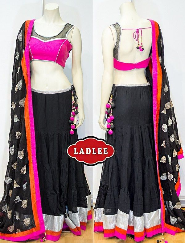 Classy Lehenga Choli with Sequin Dupatta - LooksGud.in