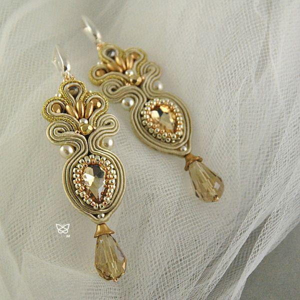 sutasz ślubny,złoto,biżuteria ślubna - Kolczyki - Biżuteria w ArsNeo