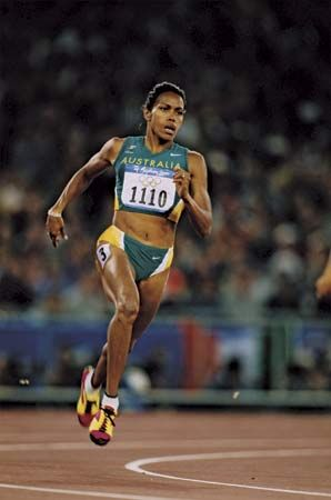 Australian sprinter who excelled in the 400-metre dash and who in 2000 became the first Australian Aborigine to win an individual Olympic gold medal.