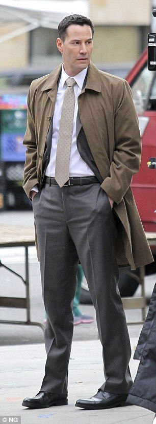 2014 November 7th. Keanu Reeves on the streets of Manhattan, NYC, filming…