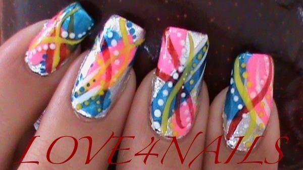 Colorful Abstract Nails by LOVE4NAILS - Nail Art Gallery nailartgallery.nailsmag.com by Nails Magazine www.nailsmag.com #nailart