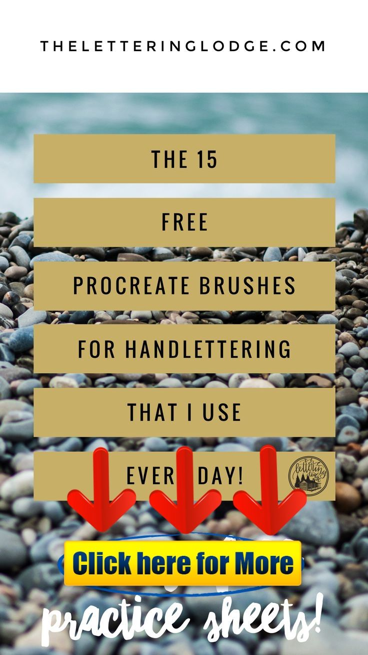 15 of the Best (Free!) Procreate Brushes for Handlettering
