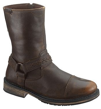 Harley-Davidson Men's Brown Side Zip Constrictor Boots  http://www.onlinebootstore.com/Merchant2/merchant.mvc?Screen=PROD_Code=obs_Code=D95277_Code=SideZip