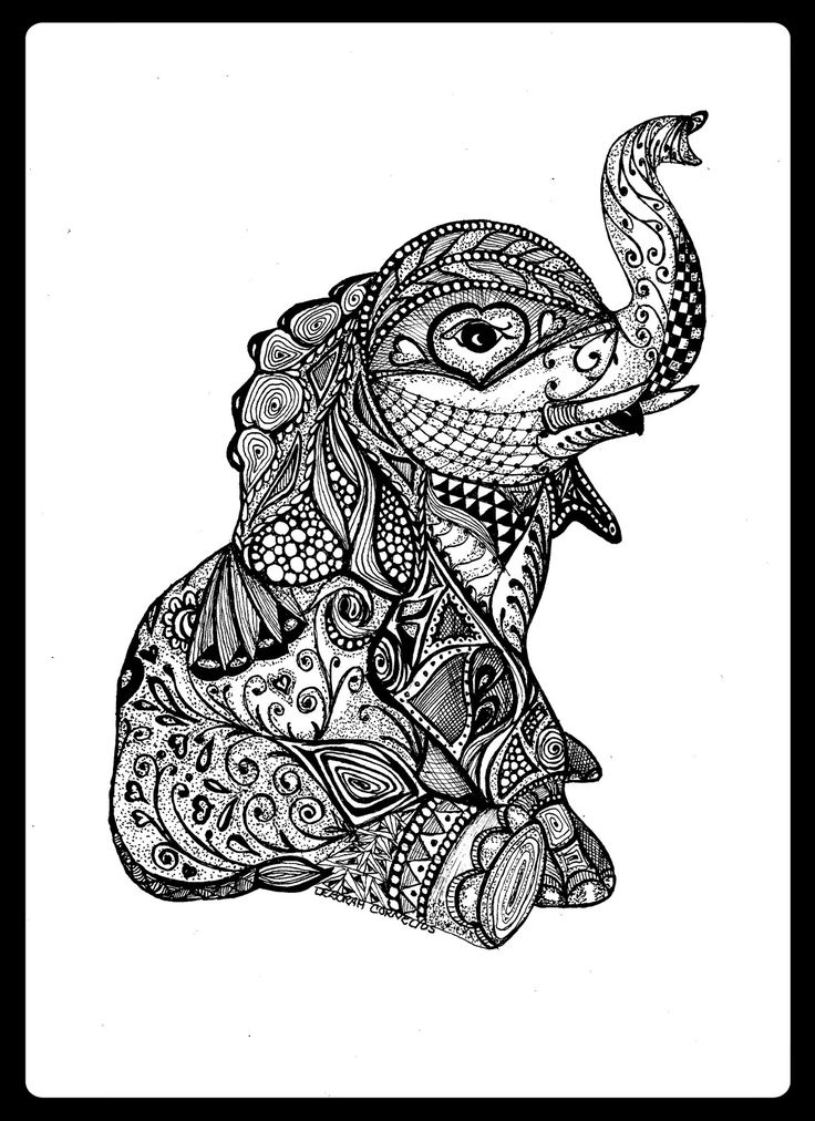 Baby Elephant Animal Wildlife Insect Coloring pages colouring adult detailed advanced printable Kleuren voor volwassenen coloriage pour adulte anti-stress kleurplaat voor volwassenen Line Art Black and White Zentangle DayLee's Creative Doodles & More: Promoting and Selling my Doodle Art.