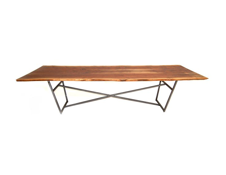 Natural Edge Dining Table With Steel Trestle Custom: 51 Best Images About Live Edge Tables And Slabs On