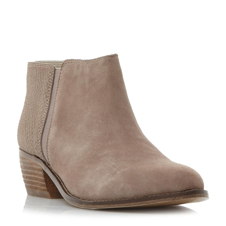 DUNE LADIES PENELOPE - Mixed Material Low Heel Ankle Boot - taupe | Dune Shoes Online
