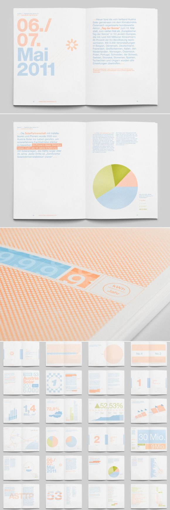 annual report graphic. we like the calm colours used in this.