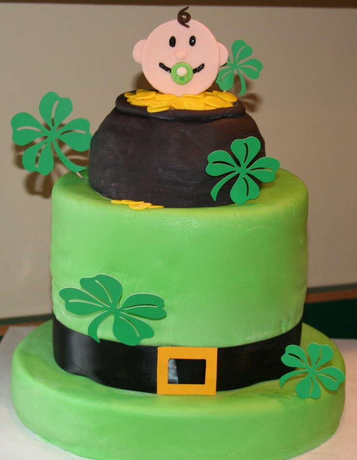 St. Patricks Day Baby Shower - This cake was made for a St. Patrick's Day Themed Baby Shower.