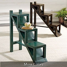 could be a bookcase, side table, multi-tiered plant stand...& legs fold down for storage